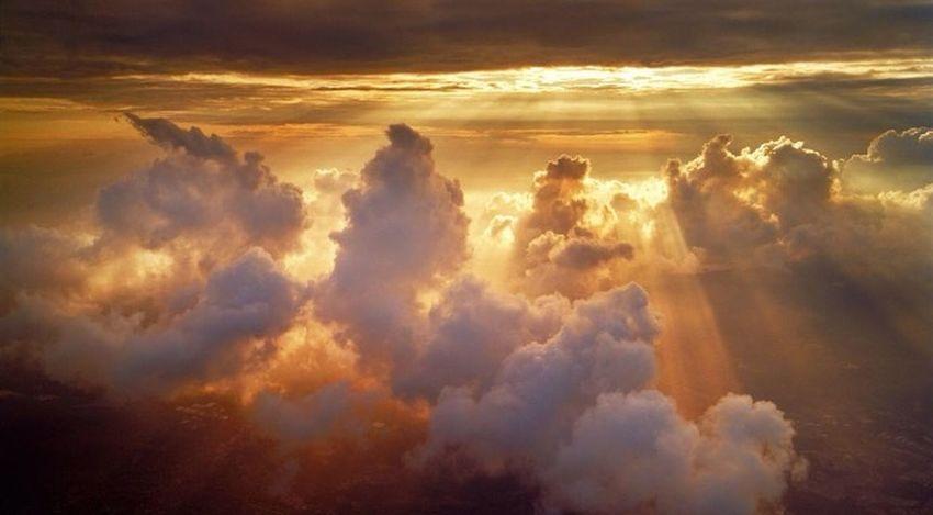 Nuages Ciel Vue Du Ciel Soleil Magnifique
