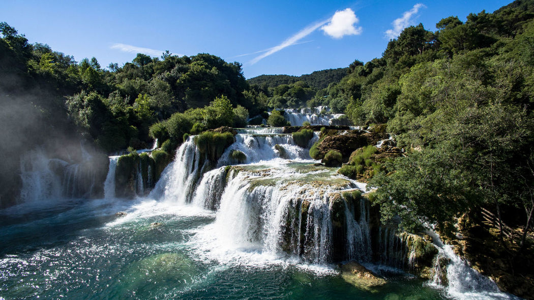 Krka waterfalls Croatia Perspectives On Nature Phantom 4 Beauty In Nature Capture Perfection Dji Fromwhereidrone Krka National Park Landscape Motion Nature Outdoors Power In Nature River Sky Water Waterfall