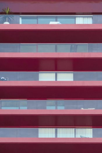 Colorful Window Stripes City Life Urban Landscape Urban Geometry Urban Plant Pattern Lines And Shapes Façade Close-up Red Architecture Built Structure No People Full Frame Building Exterior Day Outdoors