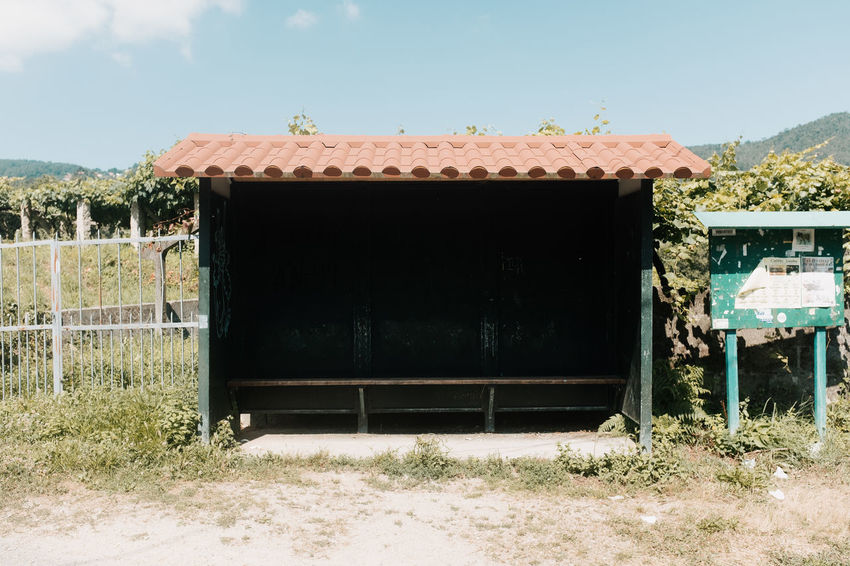 LOST IN GALICIA 🚌 Lostingalicia Threeweeksgalicia Bus Stop No People Day Architecture Outdoors Built Structure