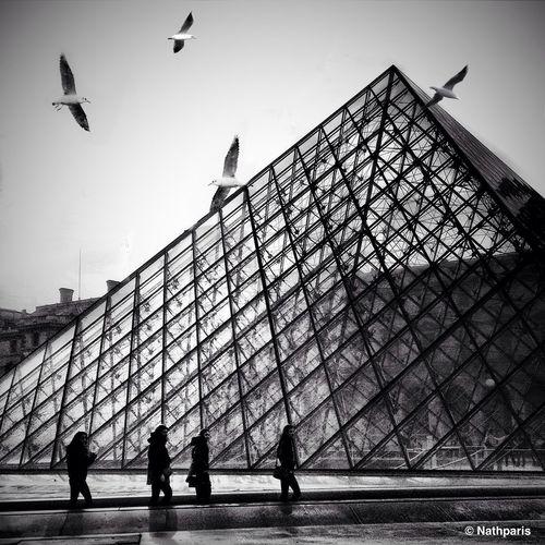 4 against 4 at Paris   pyramide du Louvre 4 Against 4