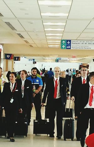 On The Way Open Edit Walking At The Airport Flightattendants Airport Life Airport Terminal San Juan PR Uniforms Traveling Showcase July