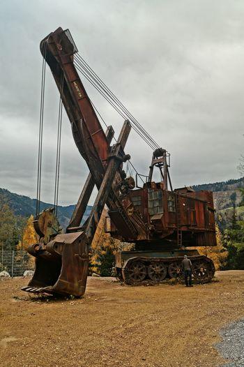 Alte Technik Erzberg Bergbau