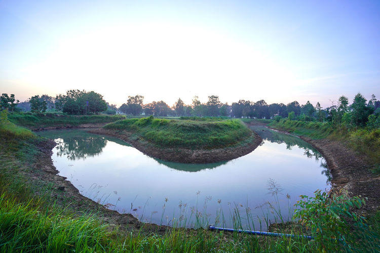 Water Reflection Plant Sky Grass Tranquility Nature Lake Tranquil Scene Tree Landscape No People Environment Scenics - Nature Beauty In Nature Day Outdoors Land Copy Space Greek Brown GULLY Stream Streamlet