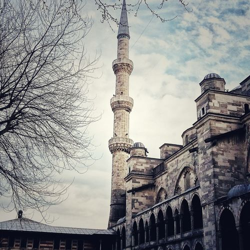 ISLAM♥ Sultan Ahmed Mosque Ramzanmubarak Istanbul City Architecture Low Angle View Sky Built Structure Cloud - Sky History Building Exterior No People Outdoors Travel Destinations Day City First Eyeem Photo