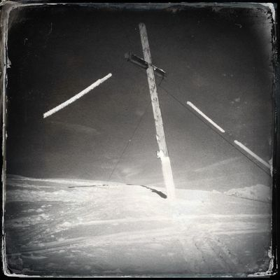 Finally I reach the cross of Mt. Mutegg - Monte Muta after a 2 hours hike Ultental Blackandwhite Hipstamatic The_guido