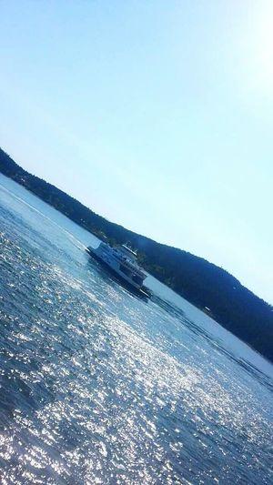 Boat Ferry Victoria Canada Trip Lake Sky