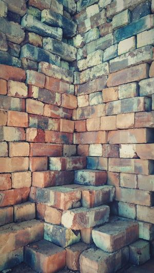 Brick Wall Architecture Built Structure Wall - Building Feature Building Exterior Brick Full Frame Day Outdoors Stone Material No People Pattern