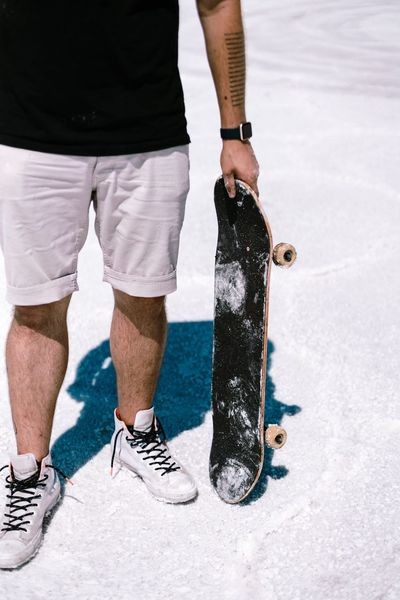 Standing around Skateboard Skateboarder One Person Body Part Day Low Section Human Leg Human Body Part Men Casual Clothing Real People Standing Nature Lifestyles Leisure Activity Sport Outdoors Water White Color Sunlight Shorts