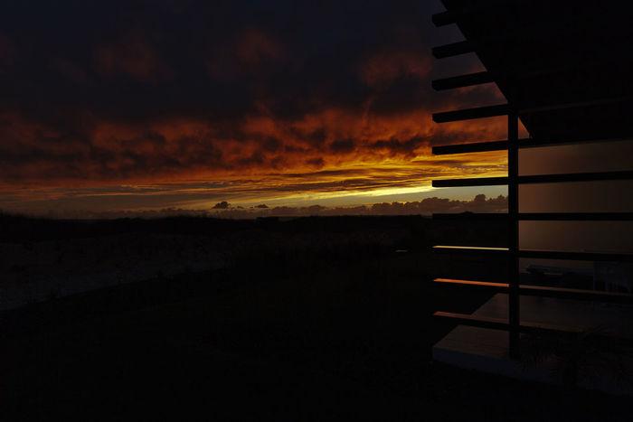 Atmosphere Atmospheric Mood Building Exterior Cloud - Sky Dark Dramatic Sky Hotel Light - Natural Phenomenon Majestic Moody Sky No People Orange Color Pestana Silhouette Sunset Tranquil Scene