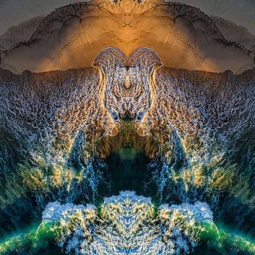 Digital composite image of rocks