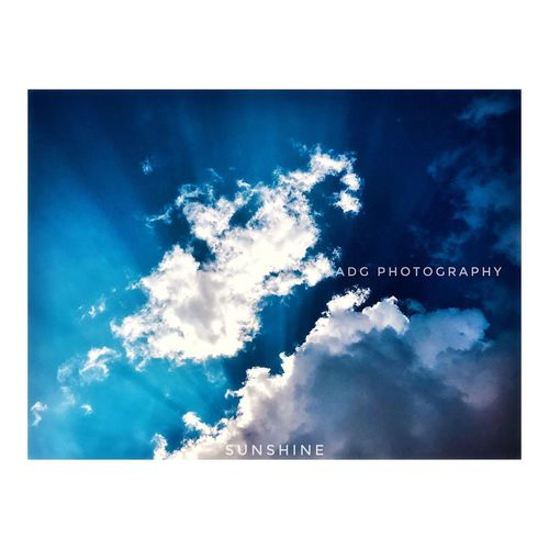 Amazing 😉 afternoon, saw sunshine & clouds. Blue Auto Post Production Filter Cloud - Sky Sky Transfer Print No People Nature Outdoors Beauty In Nature Day