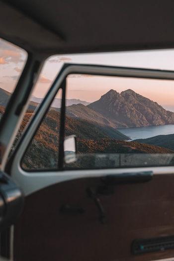 Classic car in moody scenery