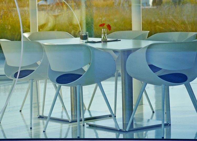 Table Seat Absence Glass - Material Restaurant No People Glass Indoors  Household Equipment Chair Business Place Setting Empty Transparent Arrangement Still Life Setting Furniture Drinking Glass Tablecloth Luxury Glass Palace Cafe
