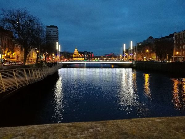 Dublin Liffey Bridge Reflection City Water Night Travel Destinations EyeEmNewHere EyeEmNewHere