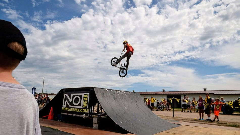 Nowear BMX Team Nebraska State Fair September 1, 2018 Grand Island, Nebraska Camera Work Check This Out Event EyeEm Best Shots FUJIFILM X-T1 Fujinon 10-24mm F4 Getty Images Grand Island, Nebraska Nebraska State Fair NowearBMX Photo Essay Photojournalism RISK Skill  Stunt Action Action Shot  Bicycle Bmx  Cloud - Sky Day Extreme Sports Freestyle Leisure Activity Lifestyles Men Mid-air Motion Outdoors People Real People RISK S.ramos September 2018 Skateboard Park Skill  Sky Spectator Sport Sports Ramp Stunt Transportation