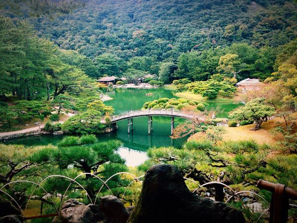 Japanese garden I'm living Japan. Yeh It's So Beautiful. Beautiful Japan Japanesegarden Ritsurin Garden