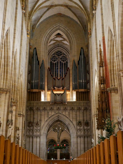 Architecture Built Structure Arch Religion Place Of Worship Building Belief Spirituality Building Exterior Pipe Organ Low Angle View Architectural Column The Past No People History Ceiling Ornate Gothic Style Ulmer Münster