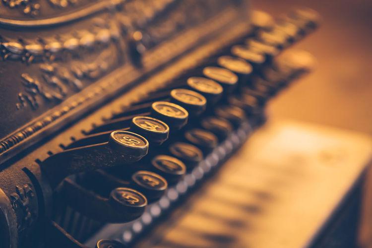 Full frame shot of old cash register