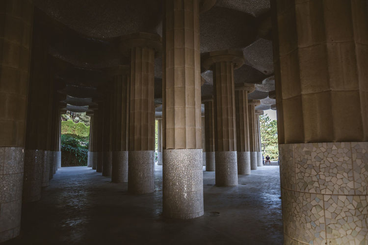 Beautiful Parc Guell in Barcelona Architectural Column Architecture Art And Craft Barcelona Built Structure Creativity Gaudi History Parc Guell Pillars Sculpture SPAIN Statue