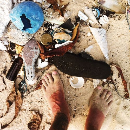 "welcome to the paradise – ""beached civilization"" Barnacles Beach Beached Close-up Day Environment High Angle View Litter Nature Nature Photography Nature_collection Naturelovers No People Ocean Outdoors Pollution Reconquest Rubbish Sand Shells Trash Travel End Plastic Pollution"