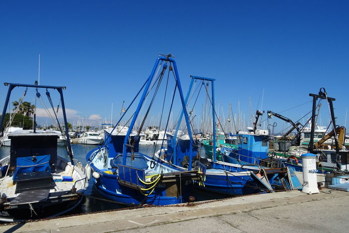 Clear Sky Blue Sea Water Reflection Bateau ❤️ Sky Clear Sky Pêcheur Mer Peche pêcheur 👣🐟 Port