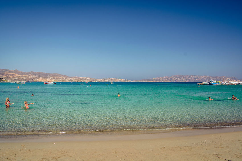 Aegansea Beach Beach Life Beauty In Nature Blue Clear Sky Day Greece Horizon Over Water Mediterranean  Milos Nature No People Outdoors Pollonia Sand Scenics Sea Sky Turquoise Water Wave