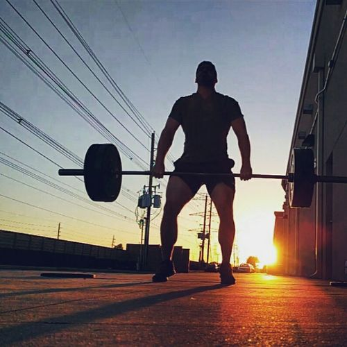 Crossfit at sunset. Sunset Outdoors Young Adult Men Sport Skill  Crossfit Crossfitathlete  Weightlifting Training Legs Quads Strong Working Out Sexyman First Eyeem Photo Crossfitathlete  EyeEmNewHere