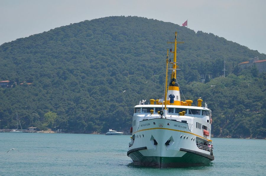 Nautical Vessel Travel Mountain Water Transportation Passenger Craft Industry Outdoors Ferry Multi Colored Sailing Harbor No People Day Cruise Ship Sky Boat Deck Nikon D5100  Nikonphotography Beauty In Nature D5100 Nikon Turkey Istanbul