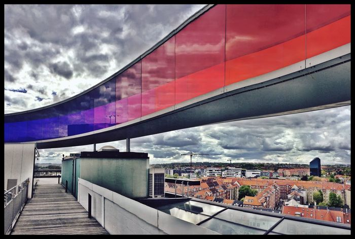 Enjoying The View Museum Of Modern Art Aarhus Panorama Clouds And Sky