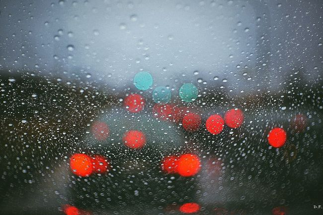Raindrops RainyDay Frommycar Bokeh Traffic Manuallens Fujian 35mm