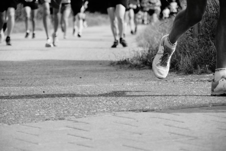 Human Leg Sport Athlete Activity Sports Race Running People Marathon Runner Runner Black And White Low Section Fürth Let's Go. Together. The Week On EyeEm Second Acts Be. Ready. Black And White Friday One Step Forward Mobility In Mega Cities Inner Power