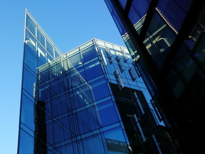 Reflections Liverpool Merseyside St Paul's Square Architecture Building Exterior Business Finance And Industry Built Structure Low Angle View Industry Building - Activity No People Day City Sky