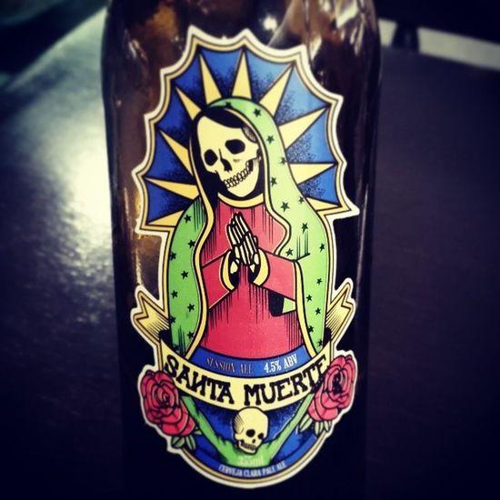 Beer off the night! Santamuerte Paleale Beer Brazil DAMABEER