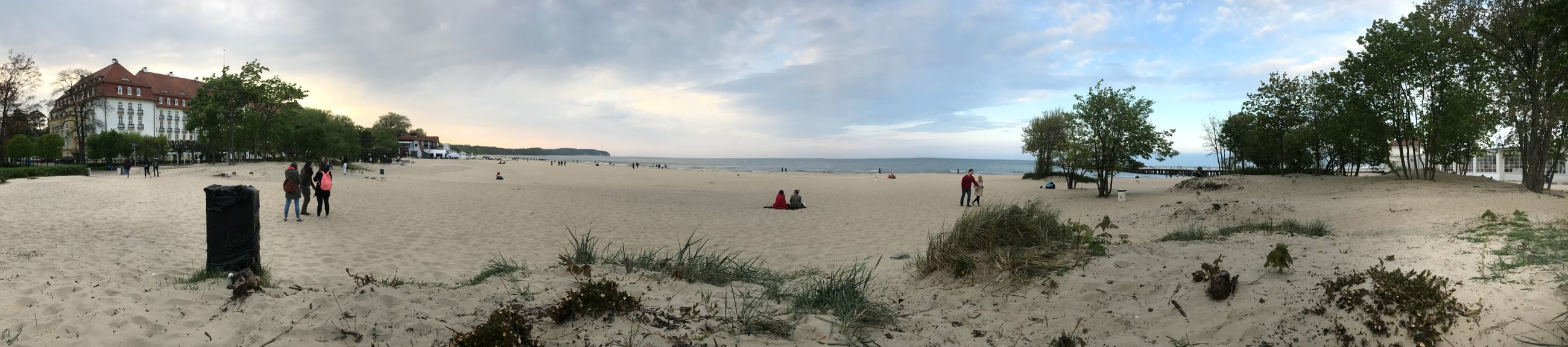 Sky Beach Land Cloud - Sky Sea Panoramic Sand Water Nature Plant Beauty In Nature Tree Crowd Group Of People Scenics - Nature Horizon Over Water Outdoors Day Large Group Of People Horizon