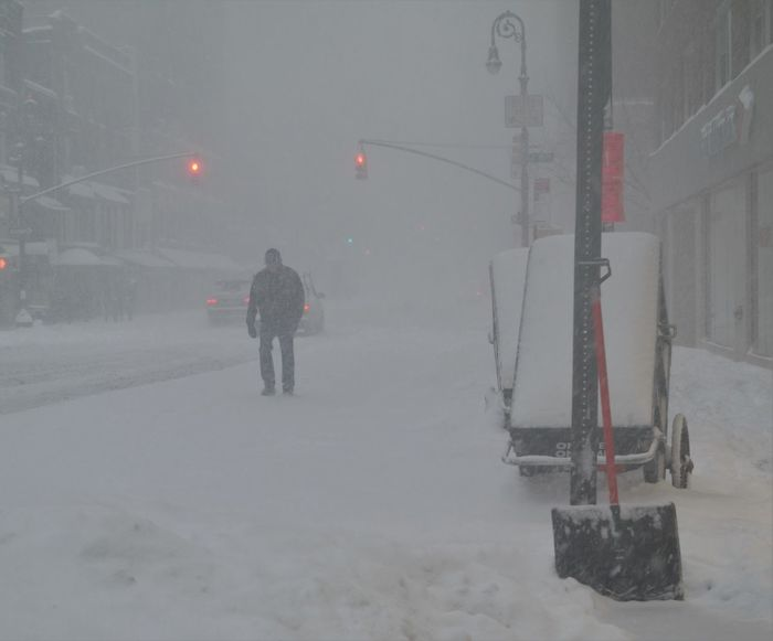 man walking in snow storm Cold Temperature Outdoors Road Snow Snowing Walking Weather Winterstormjonas