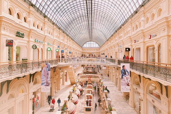 Moscow ГУМ Architecture