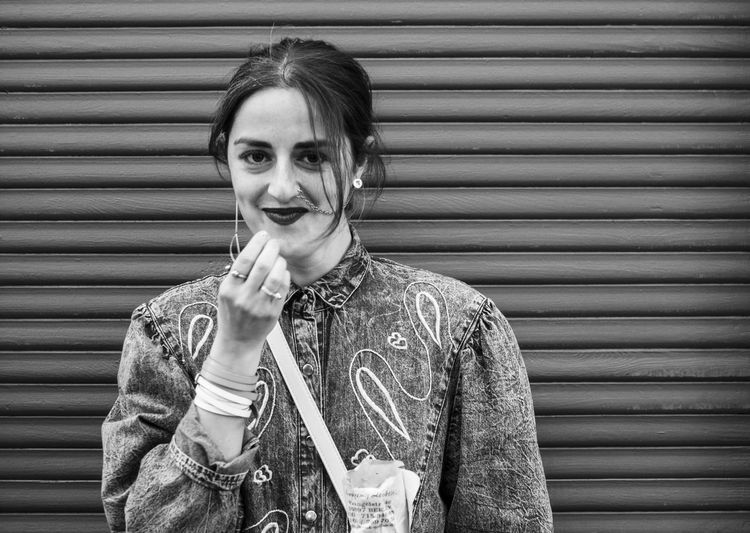 Mayday Portraits 2016 B&w B&w Photography B&W Portrait Berlin Black And White Blackandwhite Casual Expression Expressive Faces Of Berlin Happy Happy People Human Human Face Monochrome Personality  Portrait Portrait Photography Raul San Miguel RaulSanmiguelPhotography Smile