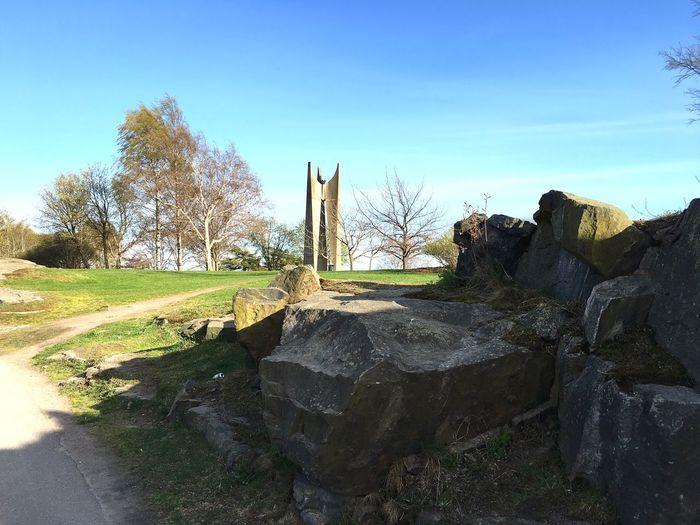 Statue Tree Nature Clear Sky Sky No People Day Finland Rock - Object Stones камни статуя обелиск чистое небо небо Финляндия