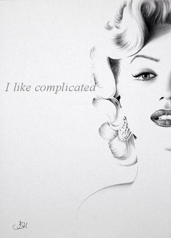 Me gusta lo complicado👄✖️😁🚫👉💎 Marylin Monroe Marylin Monroe Beautiful Queen