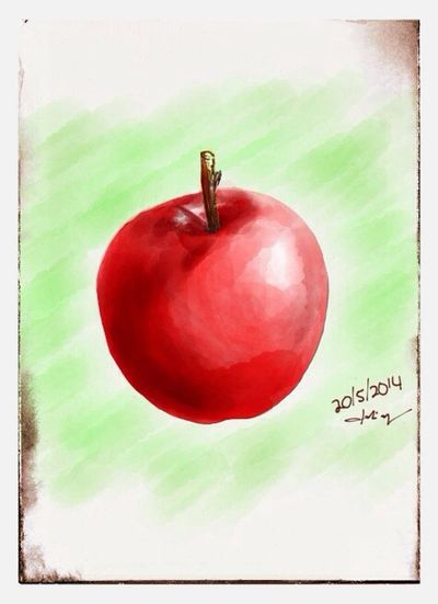 an Apple , just before go to the office. Sketch using Paperby53
