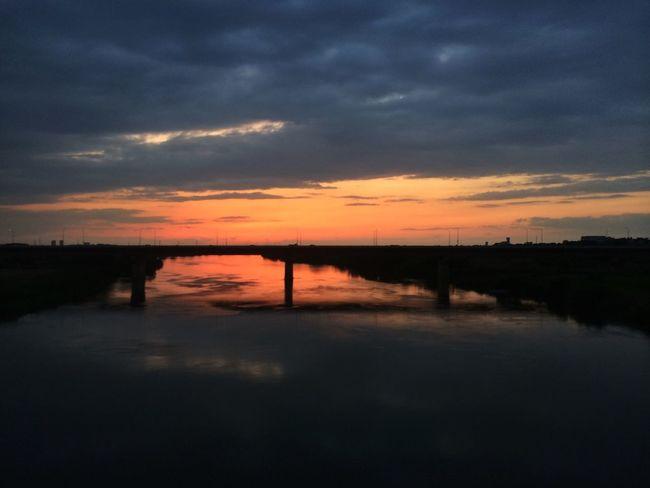 久しぶりの夕焼け IPhoneography Sunset Clouds And Sky In Train
