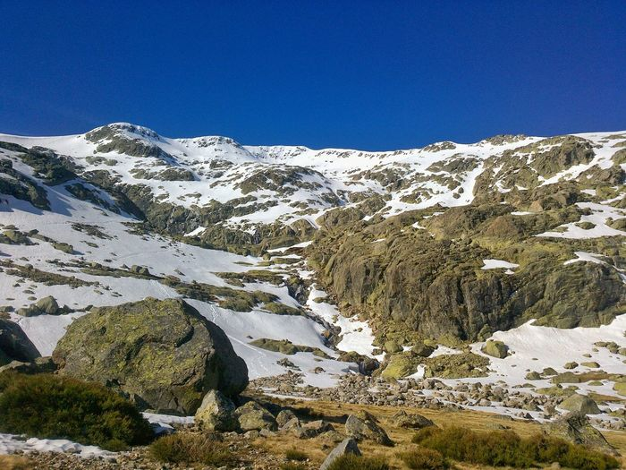 Sierra de Gredos Mountain Nature Snow Mountain Range Day Outdoors Scenics Beauty In Nature Cold Temperature Winter No People Snowcapped Mountain Tranquility Landscape Mountain Peak Sky