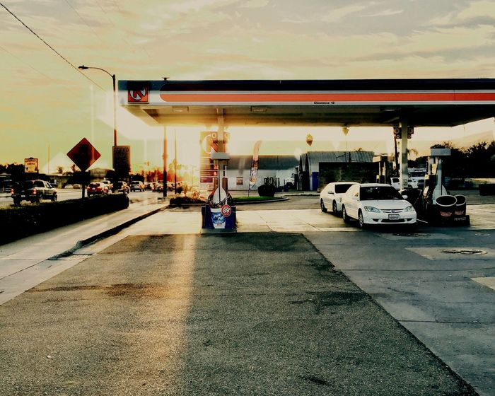 Gas Station Transportation Real People Day Built Structure Land Vehicle Outdoors Architecture Sky EyeEm Best Shots Archetecture Automotive