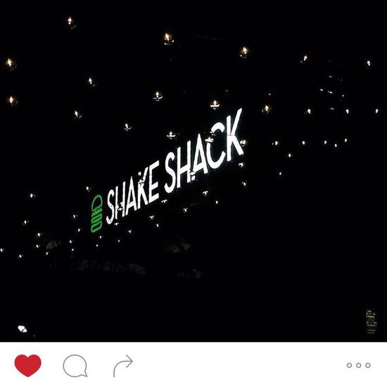 Shake Shack Tokyo Japan Neon Night