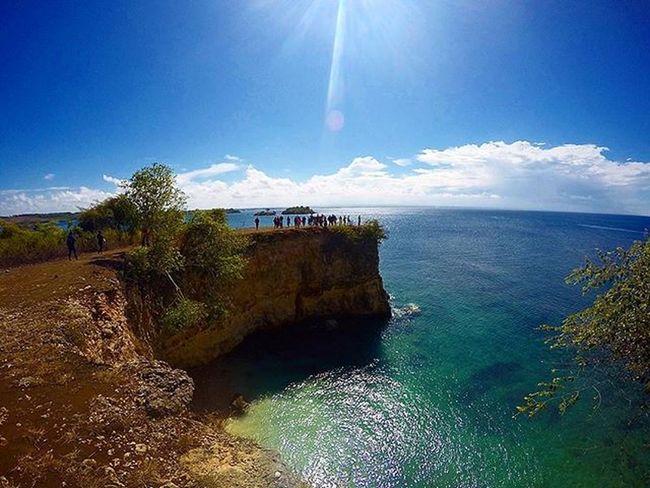 Cliff on hill Agushariantophotography Lombokisland Lombokhighlight Snorkling Swim Beach Whitesandybeach Bluesky Tanjungringgit