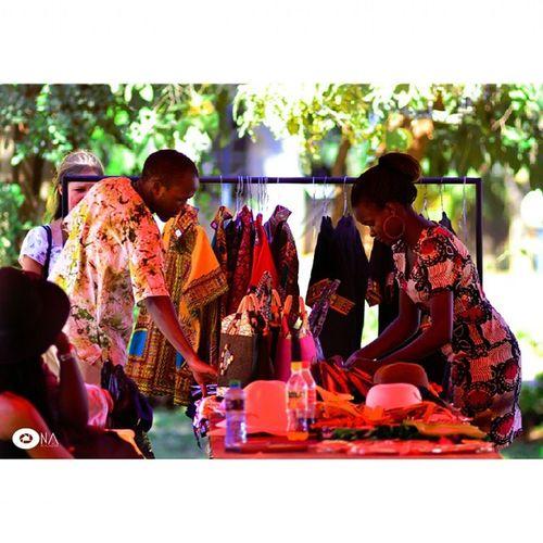 Designers showcasing some African print shirts and clothesUSIU CultureWeek2015 @culture_week_2015 @usiuafrica