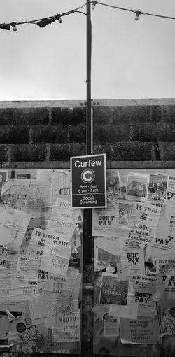 Dismaland Curfew Art Curfew Social Cleansing Graffiti Graffiti Wall Graffiti Art Lamp Post Blackandwhite Black & White Black And White Black And White Photography