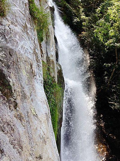 Flat Surface Level Rock Formation Water Waterfall Flowing Motion Blur Waterfall #water #landscape #nature #beautiful Japan Photography InKaratsu Waterfalllovers
