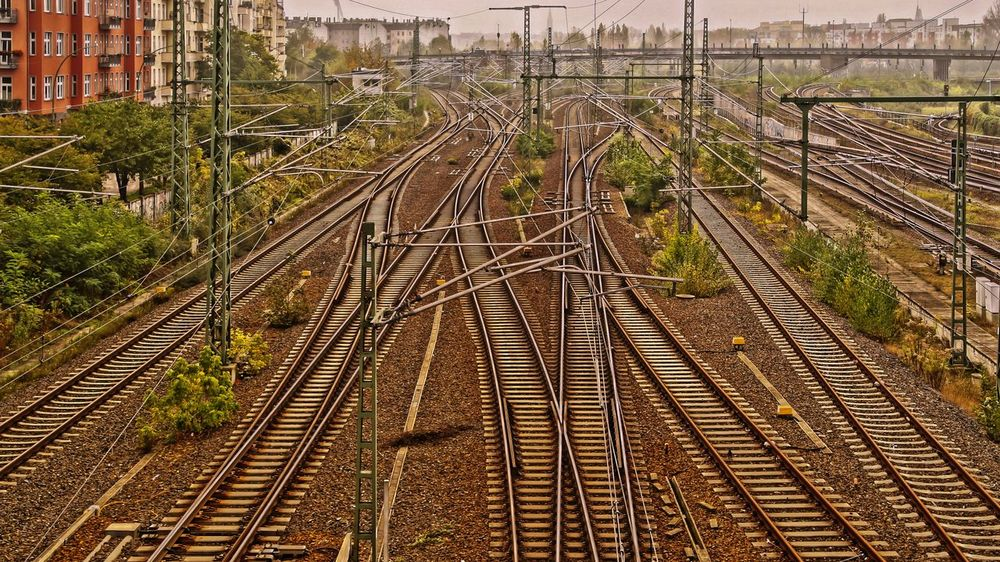 different directions ... Berlin Composition Connection Development Diminishing Perspective Direction Engineering Hdr_Collection High Angle View Leading Perspective Prenzlauerberg Public Transportation Rail Transportation Railroad Track Rails Railway Track Schienen Straight The Way Forward Transportation Travel Urban Landscape Urbanphotography Vanishing Point